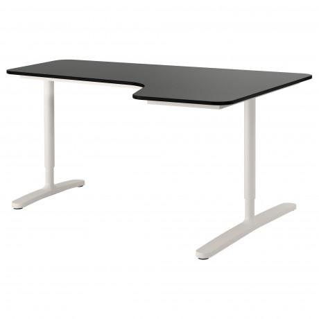 Углов письм стол правый БЕКАНТ белый фото 4