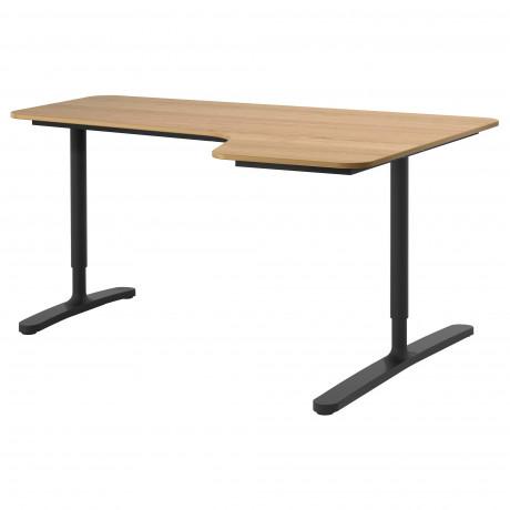 Углов письм стол правый БЕКАНТ белый фото 7