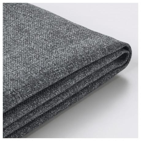Чехол на 3-местный диван ВИМЛЕ с открытым торцом, Гуннаред классический серый  фото 1
