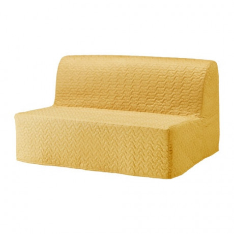Чехол на 2-местный диван-кровать ЛИКСЕЛЕ Валларум желтый  фото 1