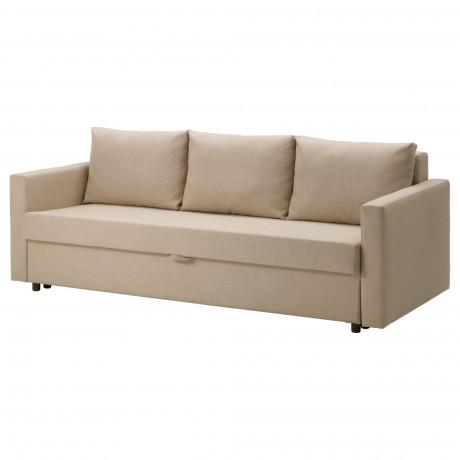 3-местный диван-кровать ФРИХЕТЭН Шифтебу темно-серый фото 2