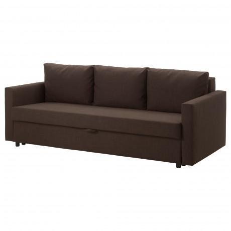 3-местный диван-кровать ФРИХЕТЭН Шифтебу темно-серый фото 3