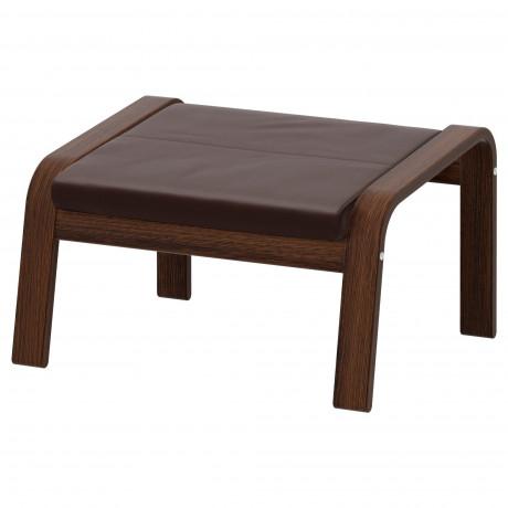 Табурет для ног ПОЭНГ коричневый, Глосе светло-бежевый фото 2