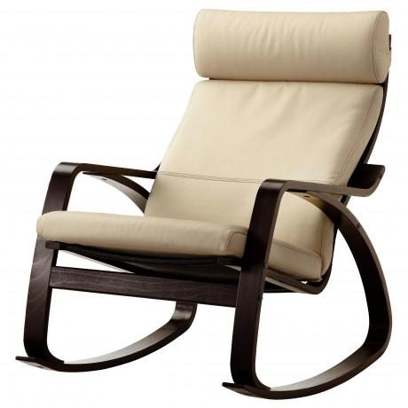 Кресло-качалка ПОЭНГ черно-коричневый, Глосе темно-коричневый фото 2