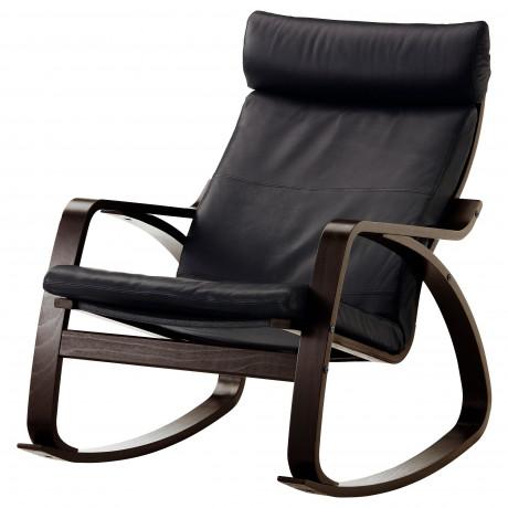 Кресло-качалка ПОЭНГ черно-коричневый, Глосе темно-коричневый фото 1