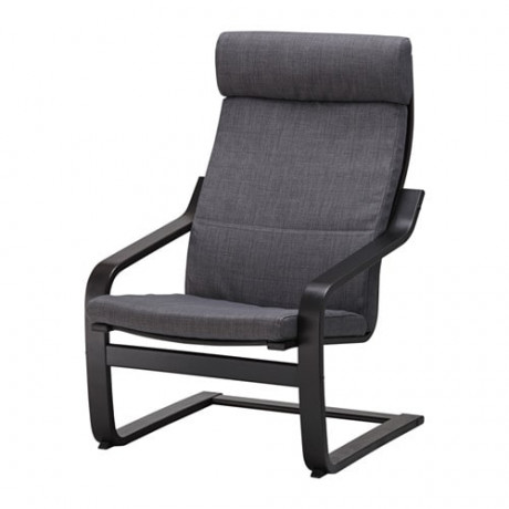 Подушка-сиденье на кресло ПОЭНГ Шифтебу темно-серый  фото 1