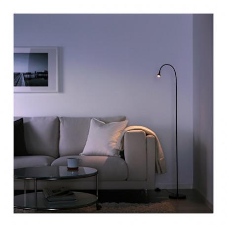 Светильник напольный, светодиодный ЯНШО черный фото 5