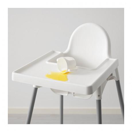 Высокий стульчик со столешн АНТИЛОП белый серебристый, серебристый фото 5