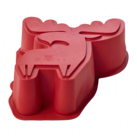 Форма для выпечки БАКГЛАД в форме лося красный фото 3