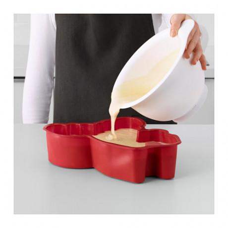 Форма для выпечки БАКГЛАД в форме лося красный фото 4