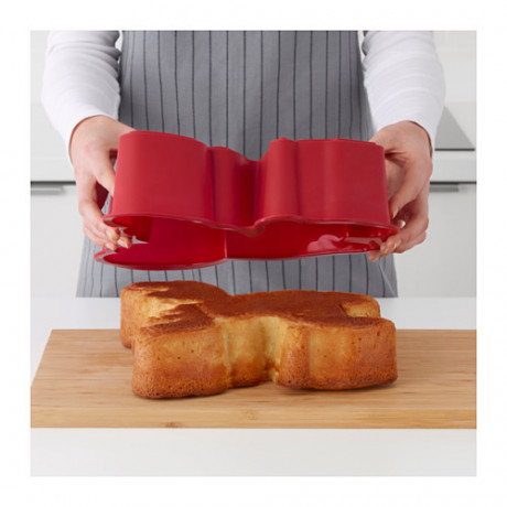 Форма для выпечки БАКГЛАД в форме лося красный фото 5