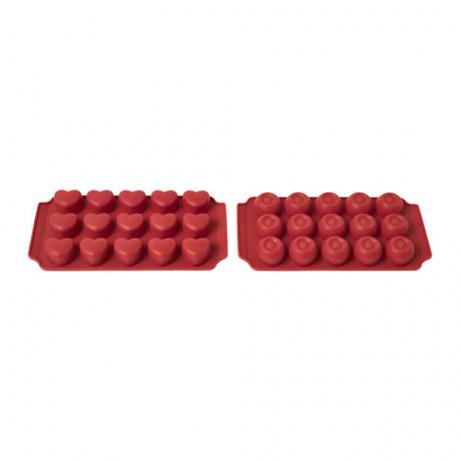 Формочка для шоколада БАКГЛАД силикон красный фото 3
