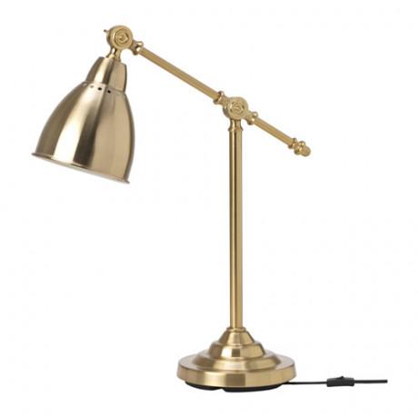 Лампа рабочая БАРОМЕТР желтая медь фото 3