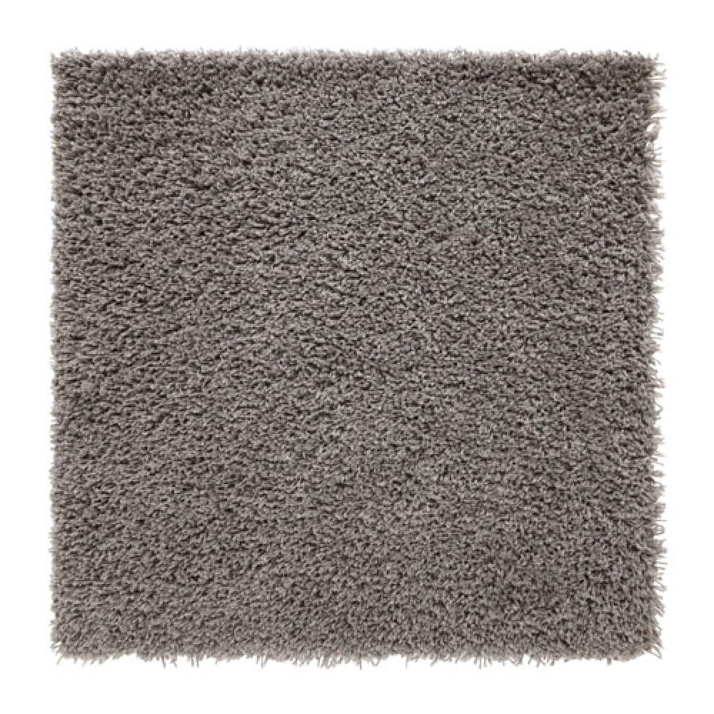 Ковер, длинный ворс ХАМПЭН серый  фото 1