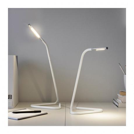 Рабочая лампа, светодиодная ХОРТЕ белый, серебристый фото 6