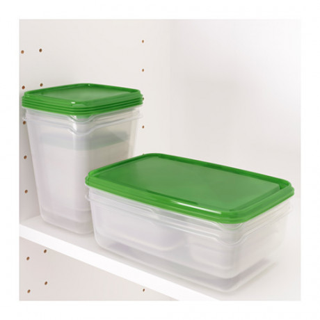 Набор контейнеров, 17 шт. ПРУТА прозрачный, зеленый фото 4