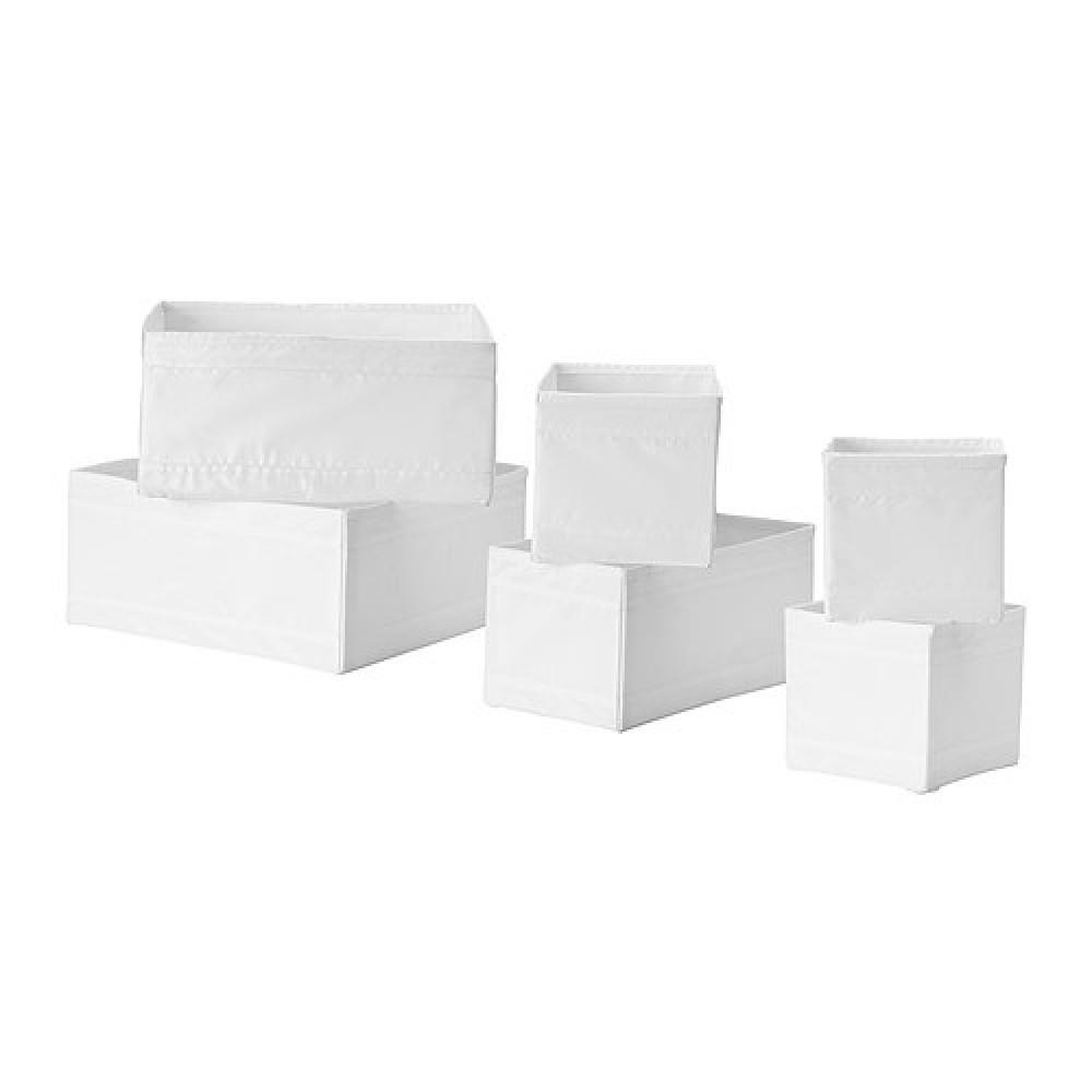 Набор коробок, 6 шт. СКУББ белый  фото 1