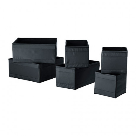 Набор коробок, 6 шт. СКУББ черный фото 3